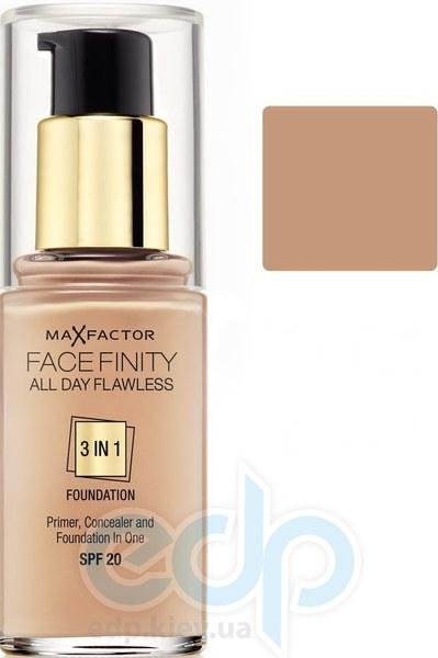 Тональный крем для лица матовый для всех типов кожи Max Factor - Facefinity All Day Flawless 3-in-1 Foundation №60 SPF 20 Песочный - 30 ml