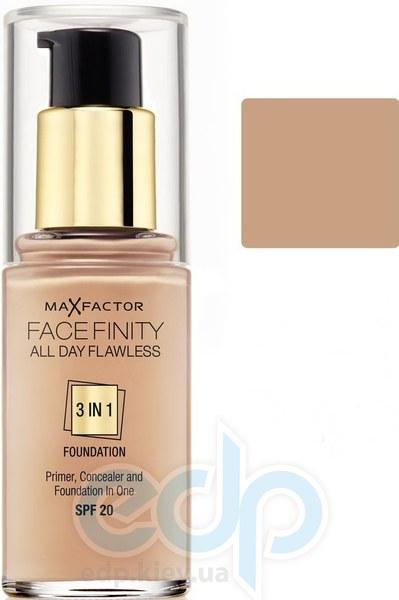 Тональный крем для лица матовый для всех типов кожи Max Factor - Facefinity All Day Flawless 3-in-1 Foundation №55 SPF 20 Бежевый - 30 ml