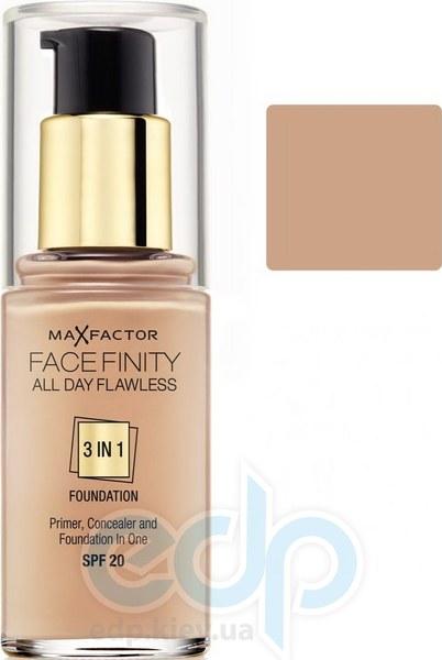 Тональный крем для лица матовый для всех типов кожи Max Factor - Facefinity All Day Flawless 3-in-1 Foundation №45 SPF 20 Теплый миндаль - 30 ml