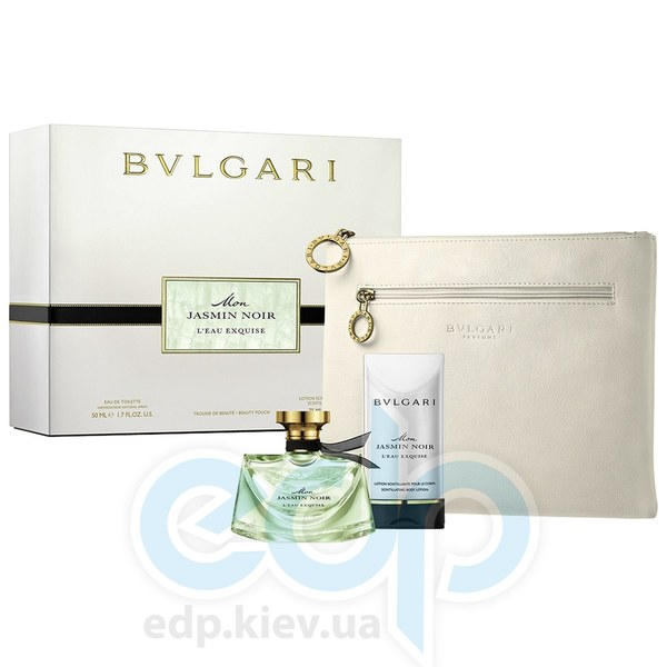 Bvlgari Mon Jasmin Noir LEau Exquise - Набор подарочный (туалетная вода - 50 ml+молочко для тела 75 ml+косметичка)
