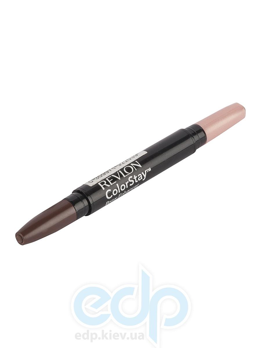 Воск для бровей двухсторонний с хайлайтером Revlon - Colorstay Brow Enhancer №3 Средний коричневый/Мягкий розовый