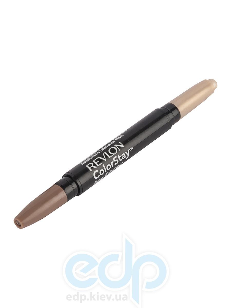 Воск для бровей двухсторонний с хайлайтером Revlon - Colorstay Brow Enhancer №1 Светлый/Золотистый