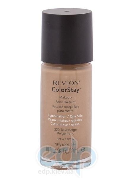 Тональный крем стойкий для комбинированной/жирной кожи Revlon - Colorstay Makeup with Softflex №320 Настоящий беж