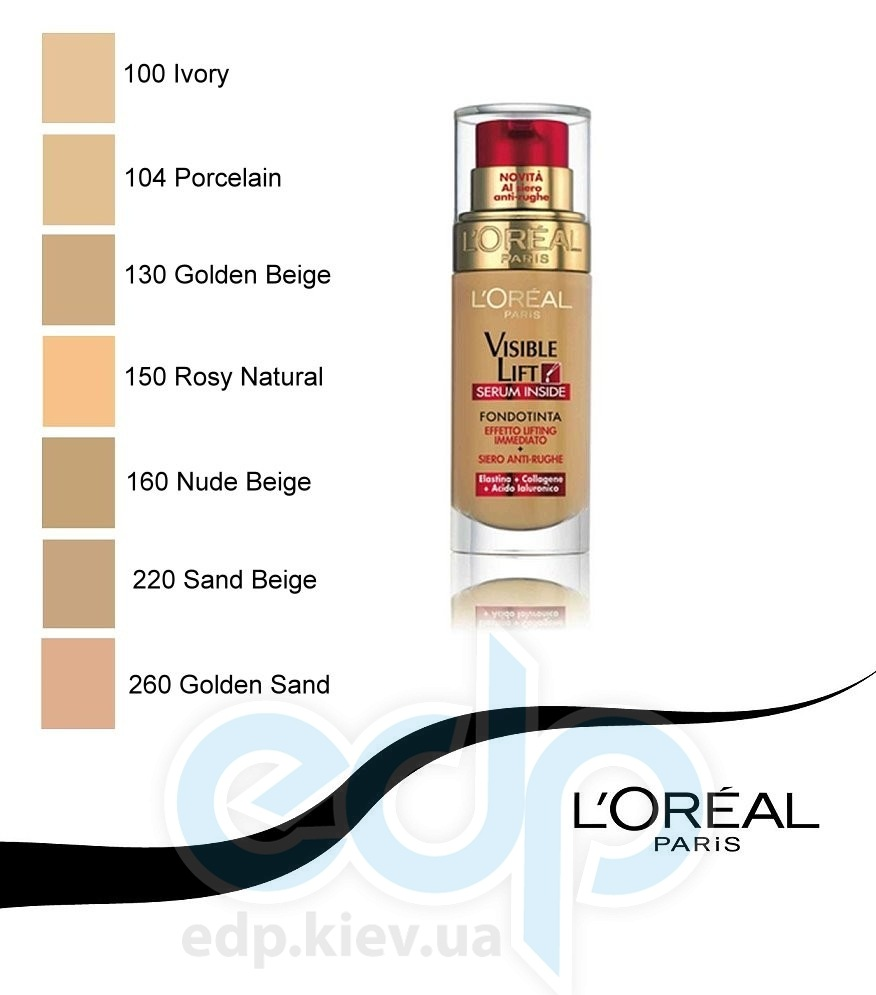 L'Oreal Тональный крем Lоreal -  Visible Lift №130 Golden Beige