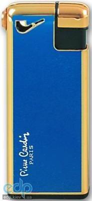 Pierre Cardin - Зажигалка газовая пьезо для трубок золото/синий лак (арт. MF-19(6))
