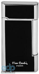 Pierre Cardin - Зажигалка газовая кремниевая черный лак/серебро  (арт. MF-191-03)
