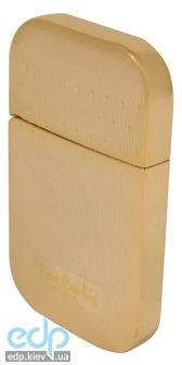 Pierre Cardin - Зажигалка газовая кремниевая золото с насечкой (арт. MF-44-10)