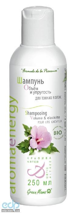 Green Mama - Шампунь Объем и упругость для тонких волос Крапива и алтей BIO - 250 ml