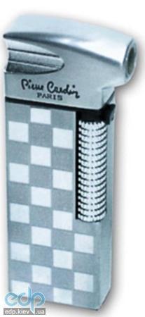 Pierre Cardin - Зажигалка газовая пьезо для сигар серебро в шашку (арт. MF-21B-27)