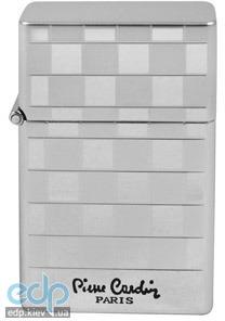 Pierre Cardin - Зажигалка газовая турбо серебро в шашку (арт. MF-48-27)