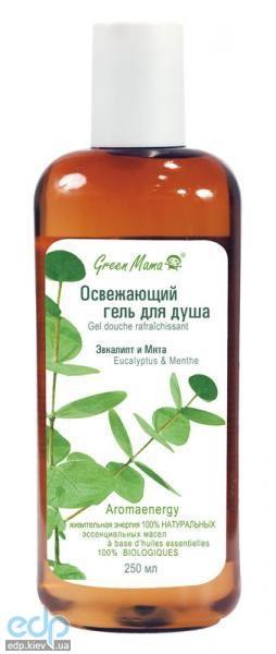 Green Mama - Освежающий гель для душа Эвкалипт и мята - 250 ml