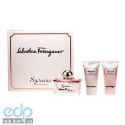 Salvatore Ferragamo Signorina Eleganza - Набор (парфюмированная вода 100 ml + лосьон для теа 50 ml + гель для душа 50 ml)