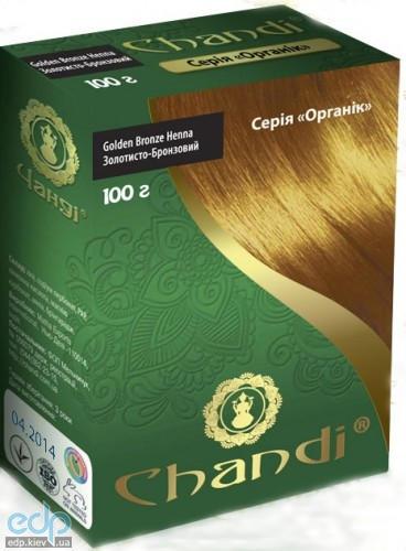 Chandi - Краска для волос. Серия органик. Золотисто-бронзовый - 100 г