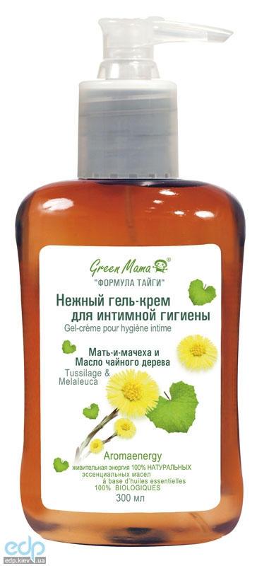 Green Mama - Нежный крем-гель для интимной гигиены Мать-и-мачеха и масло чайного дерева - 300 ml