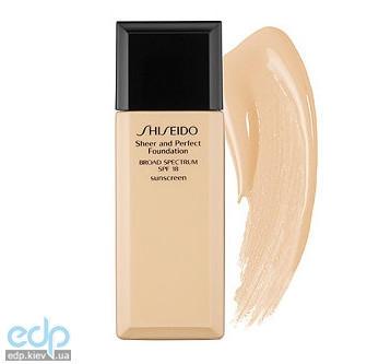 Shiseido - Тональное средство с полупрозрачной текстурой Sheer And Perfect Foundation Spf 15 № I40 Natural Fair Ivory - 30 ml