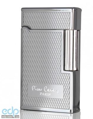 Pierre Cardin - Зажигалка газовая кремниевая серебро с насечкой (арт. MFH-78-03)