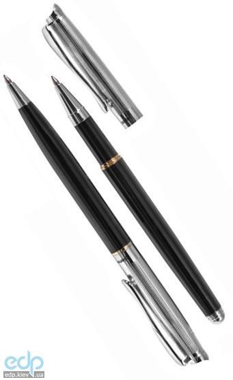 Pierre Cardin - Набор Elite ручки шариковая и роллер черная с хромом (арт. TS0201/2)