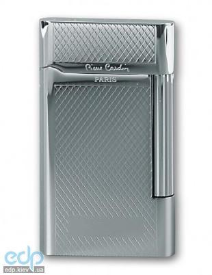Pierre Cardin - Зажигалка газовая кремниевая серебро с насечкой  (арт. MF-191-07)