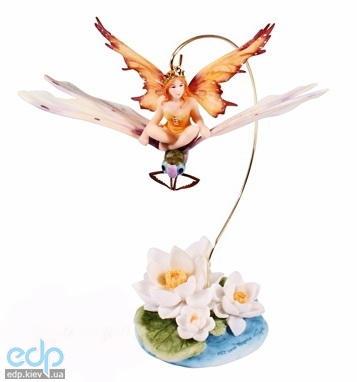 Veronese - Статуэтка Крошка-фея, сидящая на стрекозе (арт. 72458)