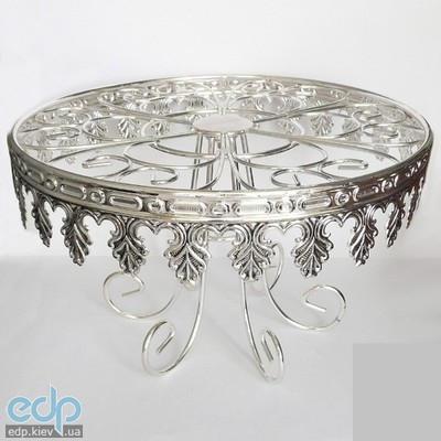 Lessner - Стол для сервировки с стеклянной поверхностью Silver (арт. ЛС99109)