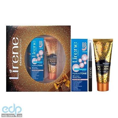 Lirene - Набор (Бальзам для тела Золотой шарм 75 + BB-крем Идеальная кожа 40 + Карандаш для глаз Черный)
