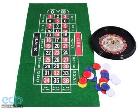 Настольная игра - Набор из 2 игр Duke рулетка + покер в кожаном кейсе (арт. REL05001)