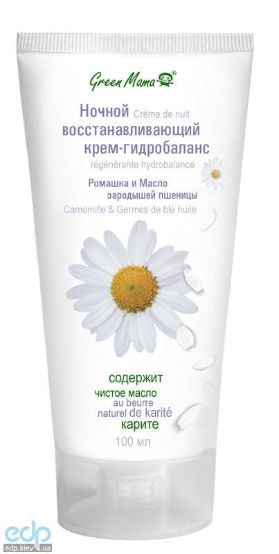 Green Mama - Ночной восстанавливающий крем-гидробаланс Ромашка и масло зародышей пшеницы - 100 ml