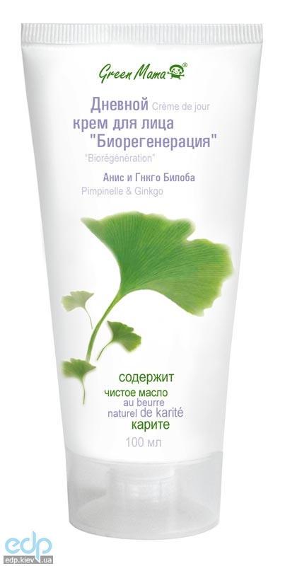 Green Mama - Дневной крем для лица Биорегенерация анис и гинкго билоба - 100 ml