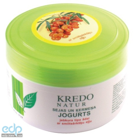 Dzintars (Дзинтарс) - Йогурт для лица и тела для любого типа кожи с облепиховым маслом Kredo Natur - 250 ml (28334dz)