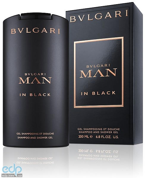 Bvlgari Man In Black - гель для душа - 200 ml