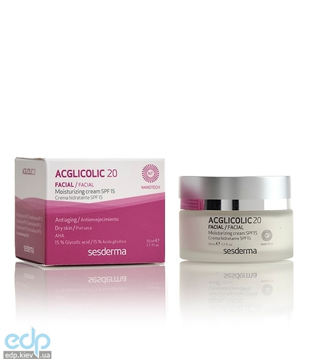 Sesderma - Увлажняющий крем для лица Acglicolic 20 Moisturizing Cream SPF 15 - 50 ml (40000012)