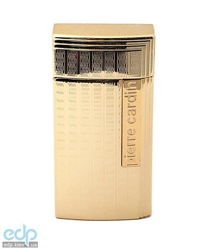 Pierre Cardin - Зажигалка газовая турбо для сигар золото с насечкой (арт. MF-210-01)