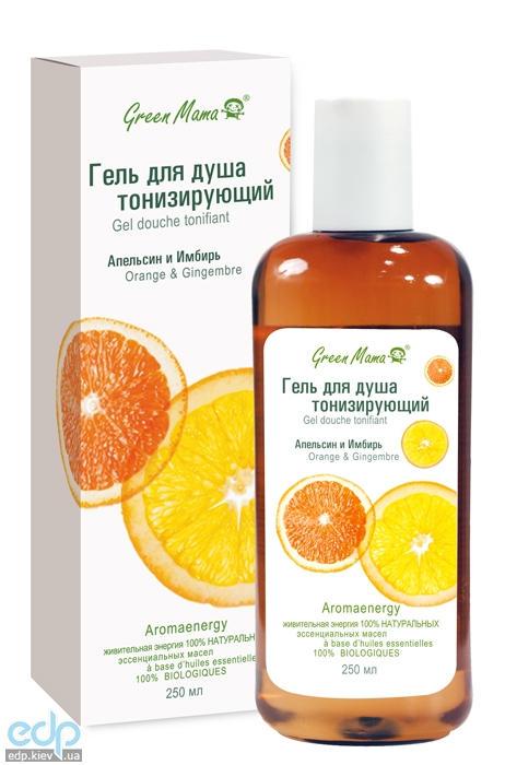 Green Mama - Гель для душа тонизирующий Апельсин и имбирь - 250 ml