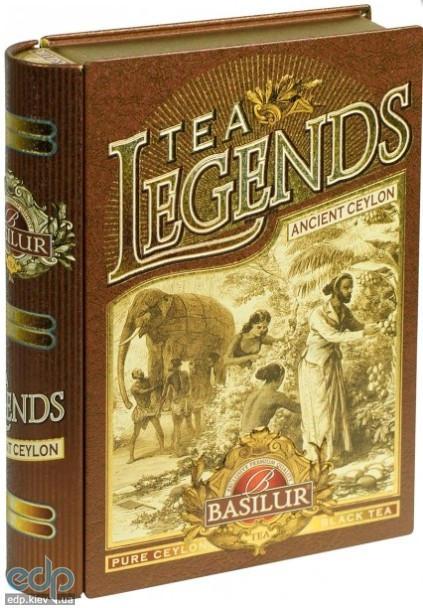 Basilur - Чай черный Чайные легенды Древний Цейлон - жестяная банка - 100g (4792252923966)