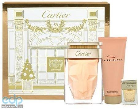 Cartier La Panthere - Набор (парфюмированная вода  75 ml + лосьон-молочко для тела 100 + mini 10)