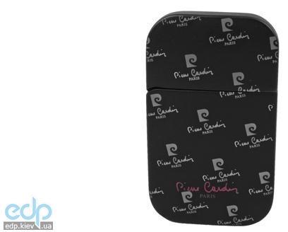 Pierre Cardin - Зажигалка газовая кремниевая черная матовая с лого (арт. MF-44-08)