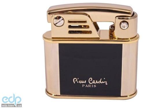 Pierre Cardin - Зажигалка газовая кремниевая хром, черный лак/золото (арт. MFH-105-05)