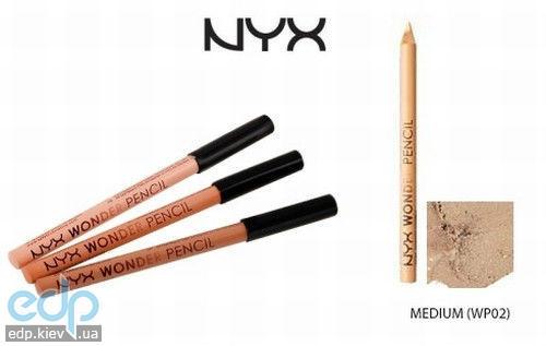 NYX - Волшебный карандаш-корректор Wonder Pencil Medium корректирующий карандаш средний беж WP02 - 1.2 g