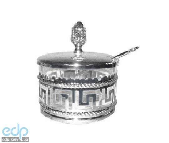 Lessner - Сахарница с ложкой Silver 9х9х9.7 см (арт. ЛС99126)