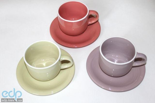 Fissman - Чашка с блюдцем керамика объем 250 мл (CS-9255.250)