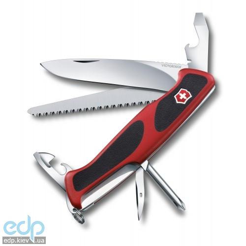 Складной нож Victorinox - Delemont RangerGrip 56 - 130 мм, 12 функций красно-черный (0.9663.C)