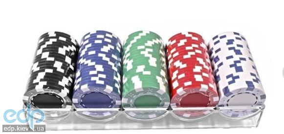 Настольная игра - Набор для покера Elite 100 фишек в пластиковом кейсе (арт. 100-S5)