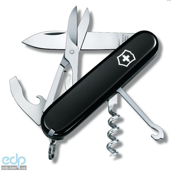 Складной нож Victorinox - Compact - 91 мм, 15 функций черный (1.3405.3)
