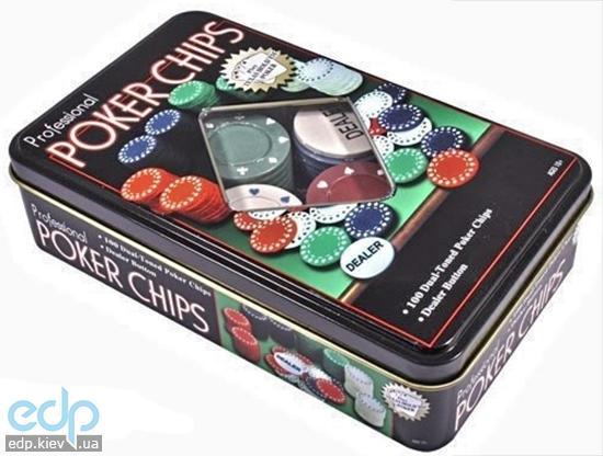 Настольная игра - Набор для игры в покер Duke в жестяной коробке на 100 фишек (арт. TC04100)
