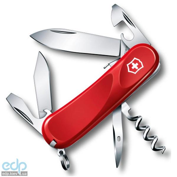 Складной нож Victorinox - Delemont Evolution S101 - 85 мм, 12 функций нейлон красный (2.3603.SE)