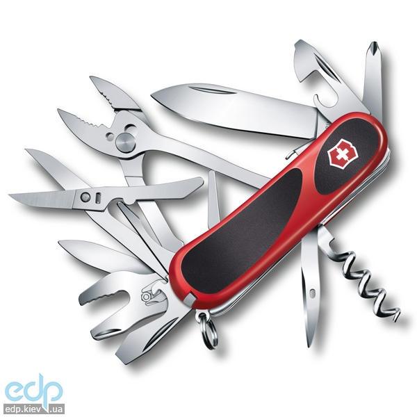 Складной нож Victorinox - Delemont EvoGrip S557 - 85 мм, 13 функций красный с черным (2.5223.SC)