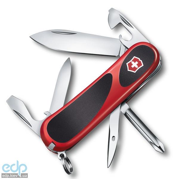 Складной нож Victorinox - Delemont EvoGrip 11 - 85 мм, 13 функций Красно-черный (2.4803.C)