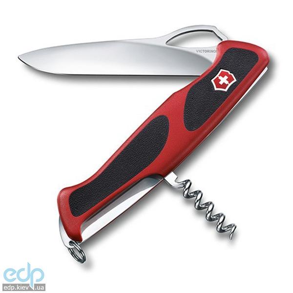 Складной нож Victorinox - Delemont RangerGrip 63 - 130 мм, 5 функций красный с черными вставками (0.9523.MC)