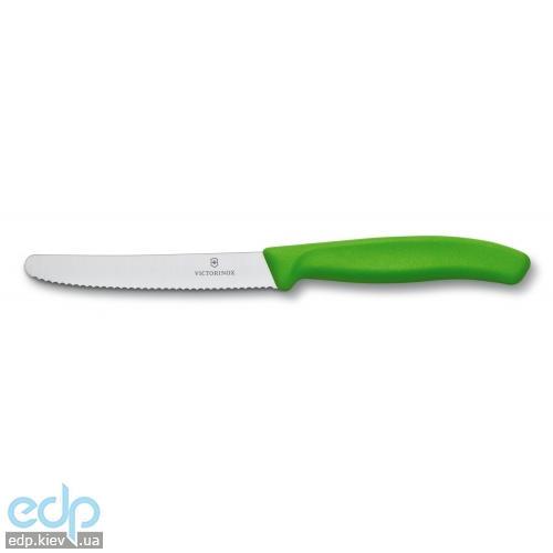 Нож кухонный Victorinox - Кухонный нож SwissClassic  - 11 см зеленый волнистое лезвие (6.7836.L114)