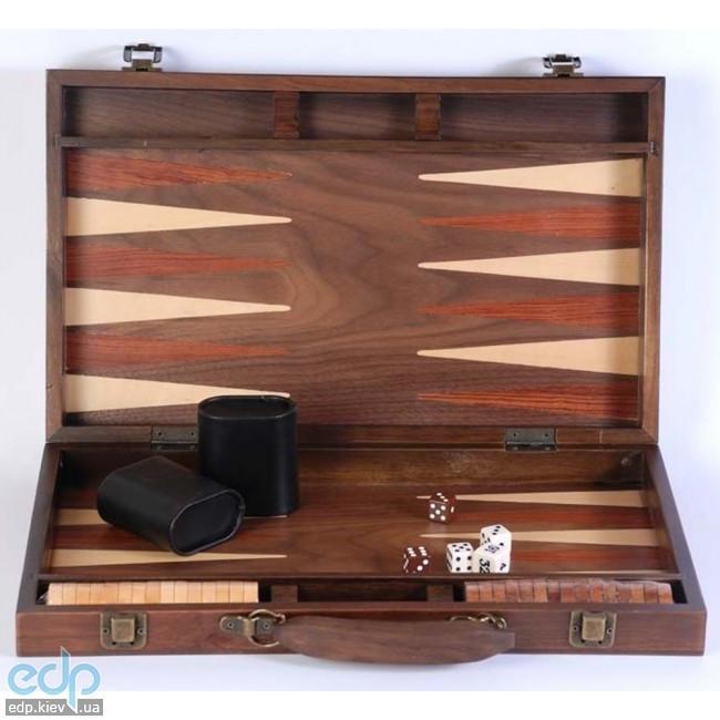Настольная игра - Нарды Duke в деревянном кейсе, орех, 37.5 x 37.5 см (арт. AD1503-03)